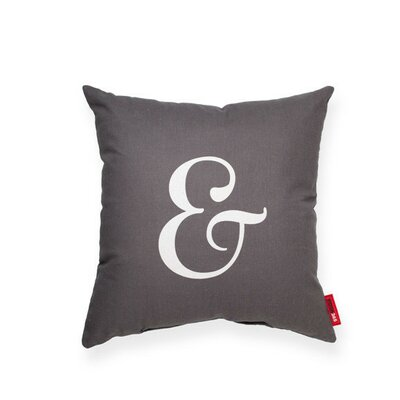 Expressive Ampersand LinenThrow Pillow