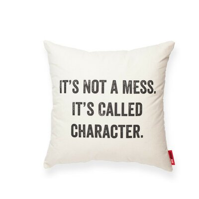 Expressive Its Not a Mess Cotton Throw Pillow
