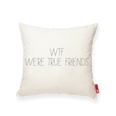 Pettis WTF Cotton Throw Pillow
