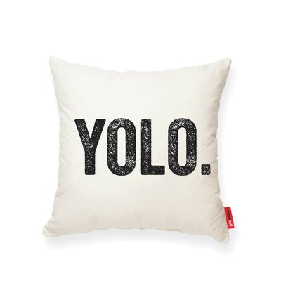 Vonda YOLO Cotton Throw Pillow