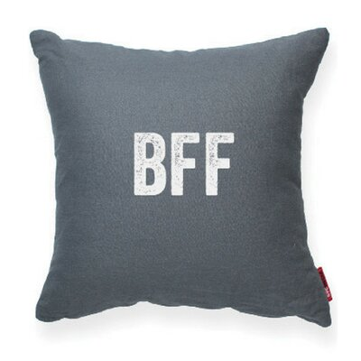 Expressive BFF Linen Throw Pillow