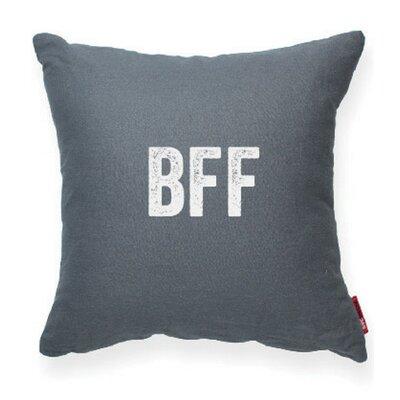Expressive BFF Linen Throw Pillow