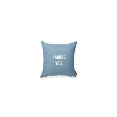 Pettis I Adore You Throw Pillow Color: Blue