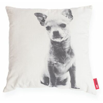 Expressive Chihuahua Dog Cotton Throw Pillow