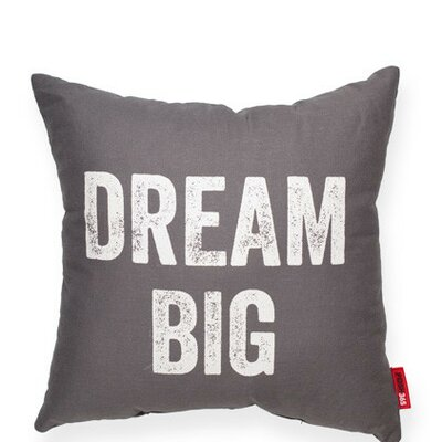Expressive Dream Big Linen Throw Pillow