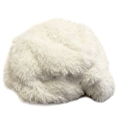 Luxury Faux Fur Throw Color: White Alpaca