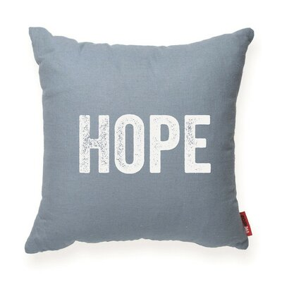 Expressive Hope Decorative Throw Pillow Color: Blue, Size: Medium