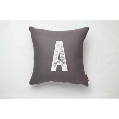 Dolton Letter A Decorative Throw Pillow