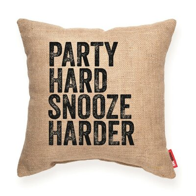 Party Hard Snooze Harder Decorative Burlap Throw Pillow