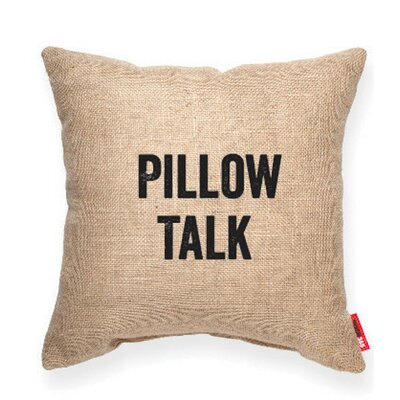 Expressive Pillow Talk Decorative Burlap Throw Pillow