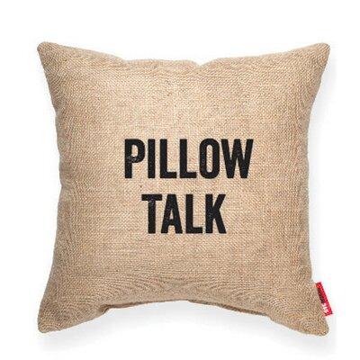 Expressive Pillow Talk Decorative Burlap Throw Pillow