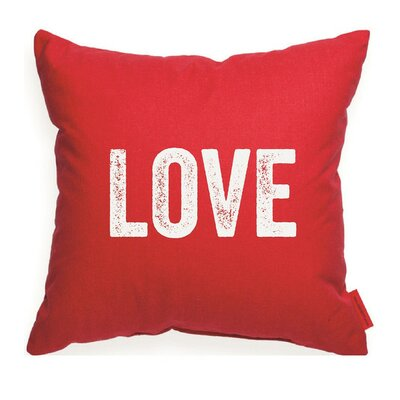 Expressive Love Decorative Throw Pillow Size: Large, Color: Red
