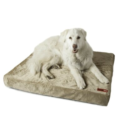 Luxury Orthopedic Foam Dog Bed Size: Large, Color: Tan