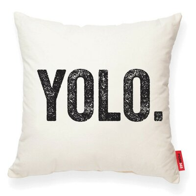 Pettis YOLO Decorative Cotton Throw Pillow