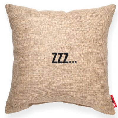 Expressive Zzz... Decorative Burlap Throw Pillow