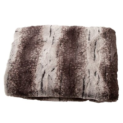 Luxury Striped Mink Faux Fur Polyester Throw Blanket