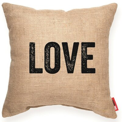 Expressive Love Decorative Burlap Throw Pillow Size: Large