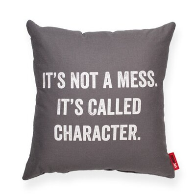 Its Not a Mess Decorative Throw Pillow Size: Medium, Color: Gray