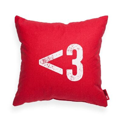 Symbol 3 Heart Decorative Throw Pillow Size: Large