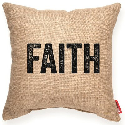 Expressive Faith Decorative Burlap Throw Pillow Size: Medium
