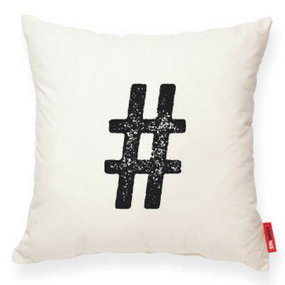 Symbol # Decorative Cotton Throw Pillow