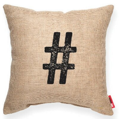 Symbol # Decorative Burlap Throw Pillow