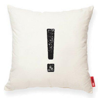 Symbol Exclamation Mark Decorative Burlap Throw Pillow