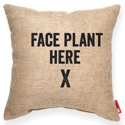 Expressive Face Plant Decorative Burlap Throw Pillow Size: Medium