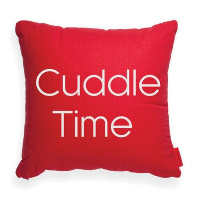Expressive Cuddle Time Decorative Throw Pillow Color: Red