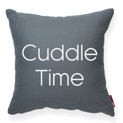 Expressive Cuddle Time Decorative Throw Pillow Color: Gray