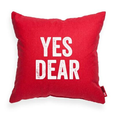 Expressive Yes Dear Decorative Throw Pillow Size: Medium, Color: Red