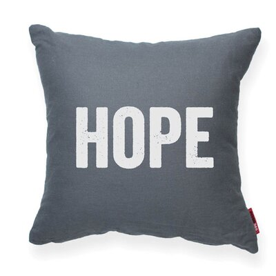 Expressive Hope Decorative Throw Pillow Size: Large, Color: Gray