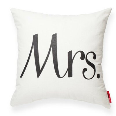 Expressive Mrs Decorative Cotton Throw Pillow