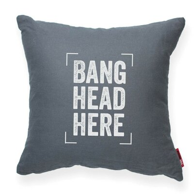 Expressive Bang Head Here Decorative Throw Pillow