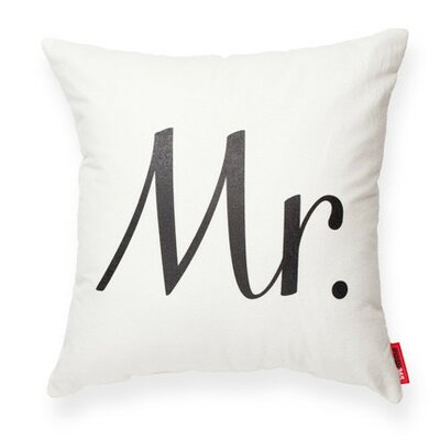 Expressive Mr Decorative Cotton Throw Pillow