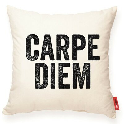 Expressive Carpe Diem Decorative Cotton Throw Pillow