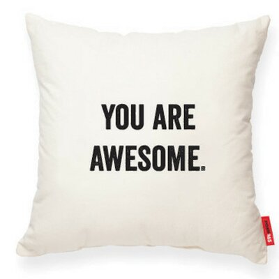 Expressive You Are Awesome Decorative Cotton Throw Pillow