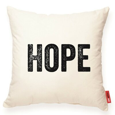 Expressive Hope Decorative Cotton Throw Pillow