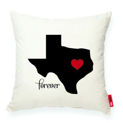 Expressive Heart Texas Decorative Cotton Throw Pillow