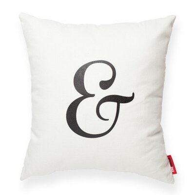Symbol Ampersand Decorative Cotton Throw Pillow