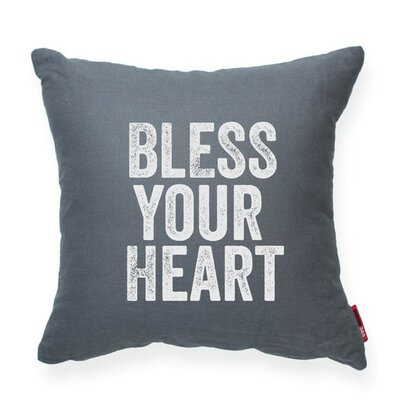 Expressive Bless Your Heart Decorative Throw Pillow