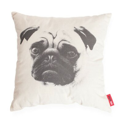 Luxury Pug Dog Decorative Cotton Throw Pillow