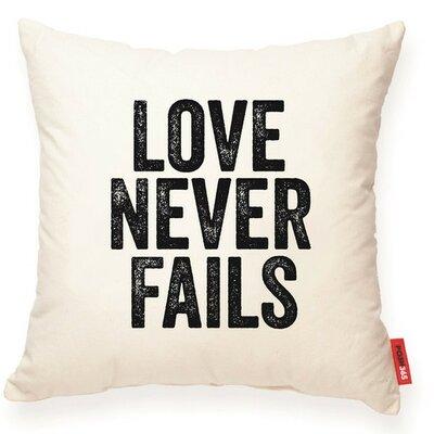 Expressive Love Never Fails Decorative Cotton Throw Pillow