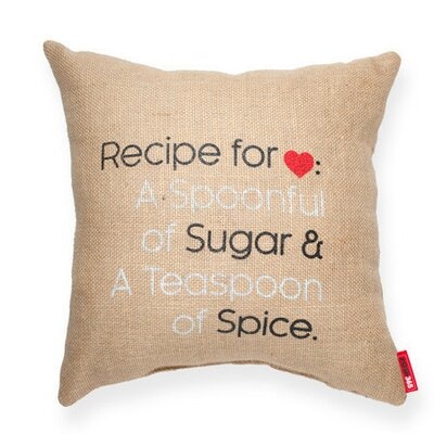 Expressive Recipe For Love Decorative Burlap Throw Pillow