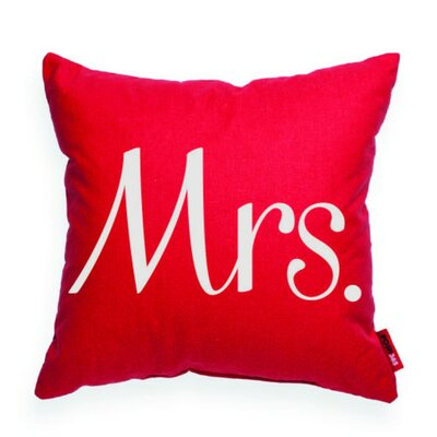 Expressive Mrs Decorative Throw Pillow