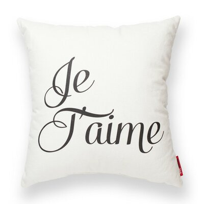 Expressive Je Taime Decorative Cotton Throw Pillow