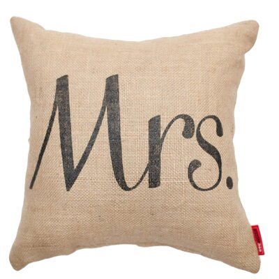 Expressive Mrs. Burlap Jute Throw Pillow