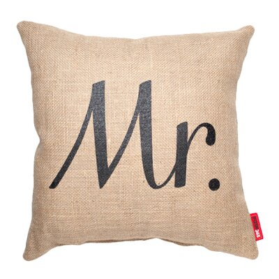 Expressive Mr. Burlap Jute Throw Pillow