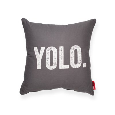 Expressive YOLO Decorative Linen Throw Pillow