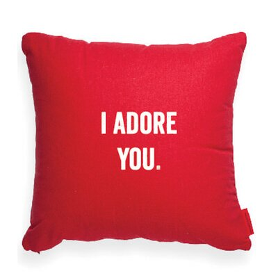 Pettis I Adore You Throw Pillow Color: Red